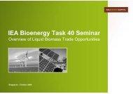 Palm Oil + - IEA Bioenergy Task 40