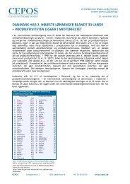 danmark har 2. højeste lønninger blandt 33 lande - Cepos