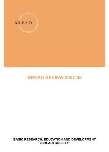 Bread Review 2007-08.cdr - Bread Society India
