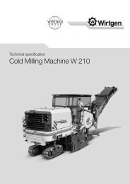 Cold Milling Machine W 210