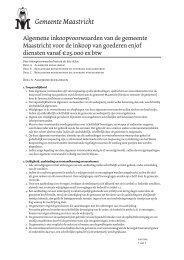 Algemene inkoopvoorwaarden Maastricht - TenderGuide