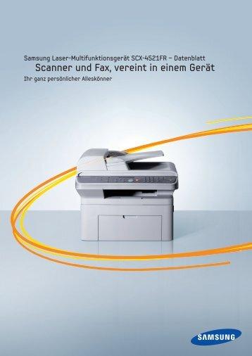 Scanner und Fax, vereint in einem Gerät