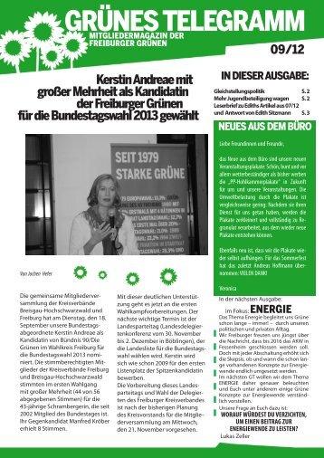 09/2012 - Bündnis 90/Die Grünen in Freiburg