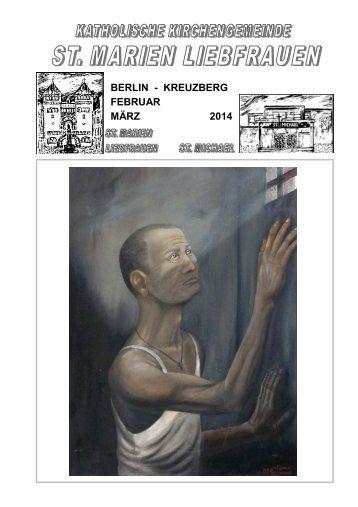 BERLIN - KREUZBERG FEBRUAR MÄRZ 2014 - St. Marien ...
