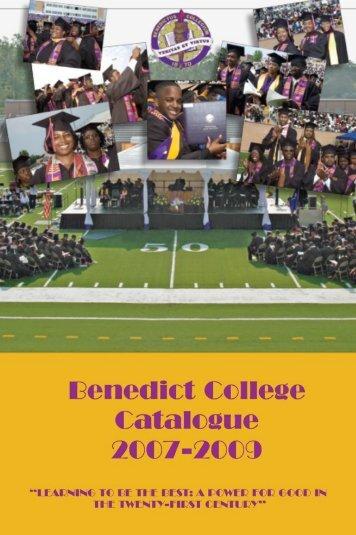 Benedict College Catalog, 2007-2009