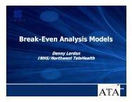 Break Even Analysis Models