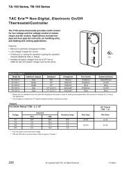 TAC Erie™ Non-Digital, Electronic On/Off ... - Industrial Controls