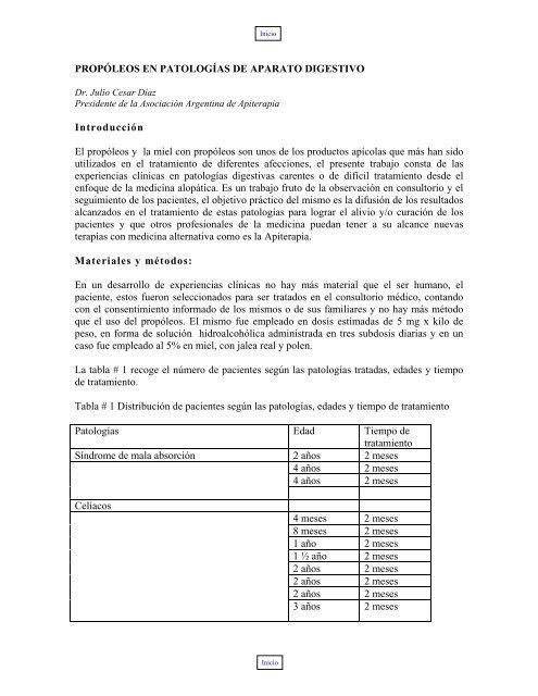 Propóleos en Patologías de Aparato Digestivo - Apinews
