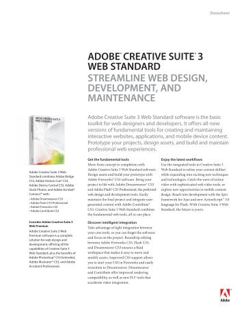 ADOBE® CREATIVE SUITE® 3 WEB STANDARD ... - Grapheast