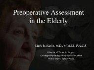 Preoperative Assessment in the Elderly - AATS: Member Login