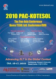 2010 International Conference Chair's Welcoming Address - Kotesol