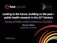 Professor Martin White - UK Faculty of Public Health