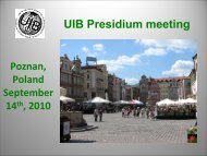 Presentation PRESIDIUM - Uibaker.org