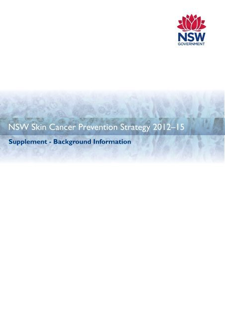 Nsw Skin Cancer Prevention Strategy 2012 15 Cancer Institute