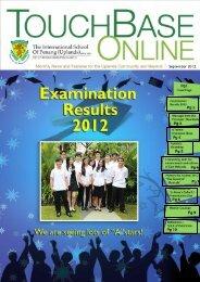 TOUCHBASE Sept 2012 - The International School Of Penang