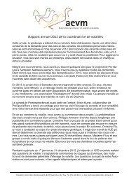 Rapport annuel 2012 de la coordinatrice de volailles - Livingsites.com