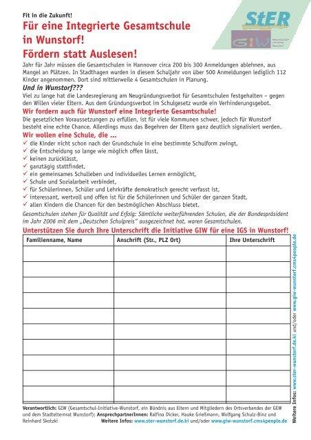 Unterschriftenliste Maststall Meilsen Runder 8