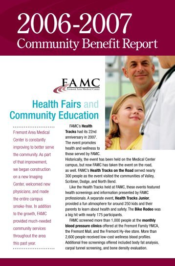 Community Benefit Report - Fremont Area Medical Center