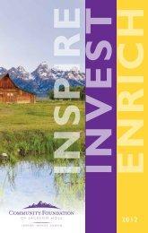 2012 Annual Report - Community Foundation of Jackson Hole