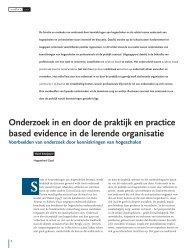Onderzoek in en door de praktijk en practice based ... - KenVaK - Zuyd