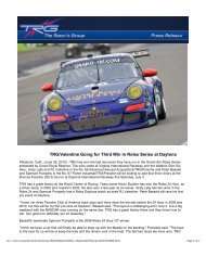 TRG/Valentine Going for Third Win in Rolex Series at Daytona