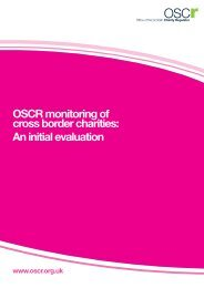 OSCR monitoring of cross border charities: An initial evaluation