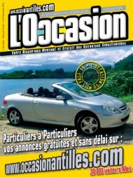 Nous consulter - Occasion Antilles