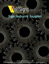 Sign Industry Supplier - Polisigns.com