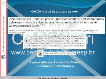 Apresentação: Fernando Moreto - CeMENutri