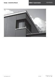 SIGMA 8 Façade System Design + Installation Manual - Swisspearl