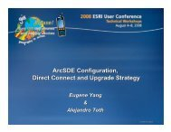 ArcSDE Configuration, Direct Connect and Upgrade Strategy
