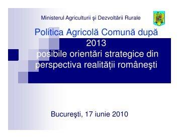 Politica Agricola Comuna dupa 2013 - Direcţia pentru Agricultura şi ...