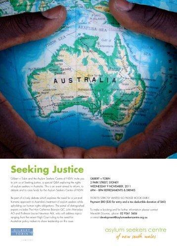 Seeking Justice Event 2011 - Gilbert + Tobin