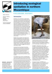 Introducing ecological sanitation in northern Mozambique - WaterAid