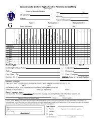 Massachusetts Uniform Application For Permit to do Gasfitting - Lenox