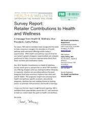 Retailer Contributions to Health and Wellness - Food Marketing ...