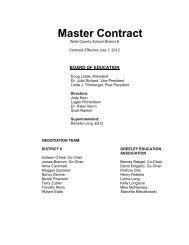 Master Contract - Greeley Schools