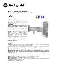 Utility Distribution System - Spring Air Systems Inc.