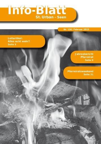 Infoblatt 136 - Pfarrei St. Urban