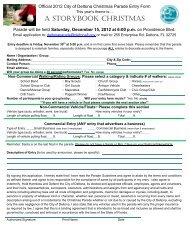 2012 Parade Entry Form.pdf - City of Deltona, Florida