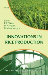 innovations in rice production - ePrints@NIAS - National Institute of ...