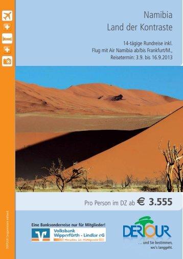 Namibia Land der Kontraste - Volksbank Wipperfürth-Lindlar eG