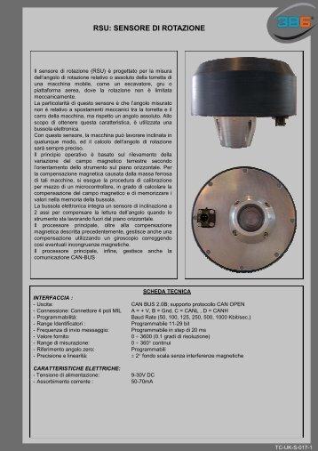 RSU: SENSORE DI ROTAZIONE - 3b6.it