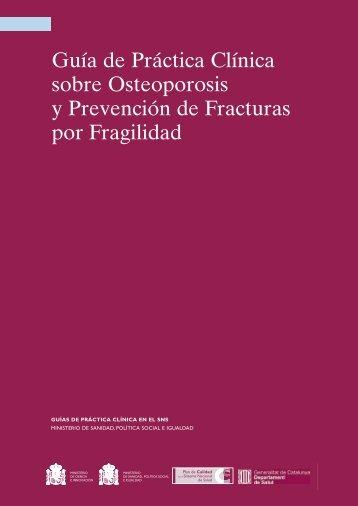 Guía de Práctica Clínica sobre Osteoporosis y Prevención de ...