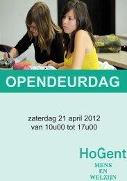 OPENDEURDAG - Hogeschool Gent