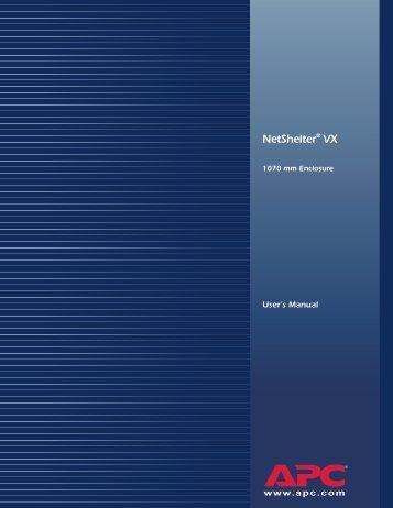 Installing the NetShelter VX Enclosure
