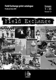 printed catalogue - Field Exchange - Emergency Nutrition Network