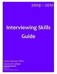 Interviewing Skills Guide - Cazenovia College