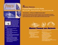 Program and Abstracts - FMCS-Freshwater Mollusk Conservation