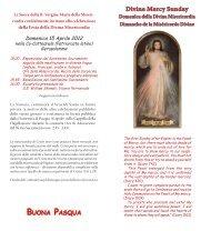 Divine Mercy - Patriarcat latin de Jérusalem